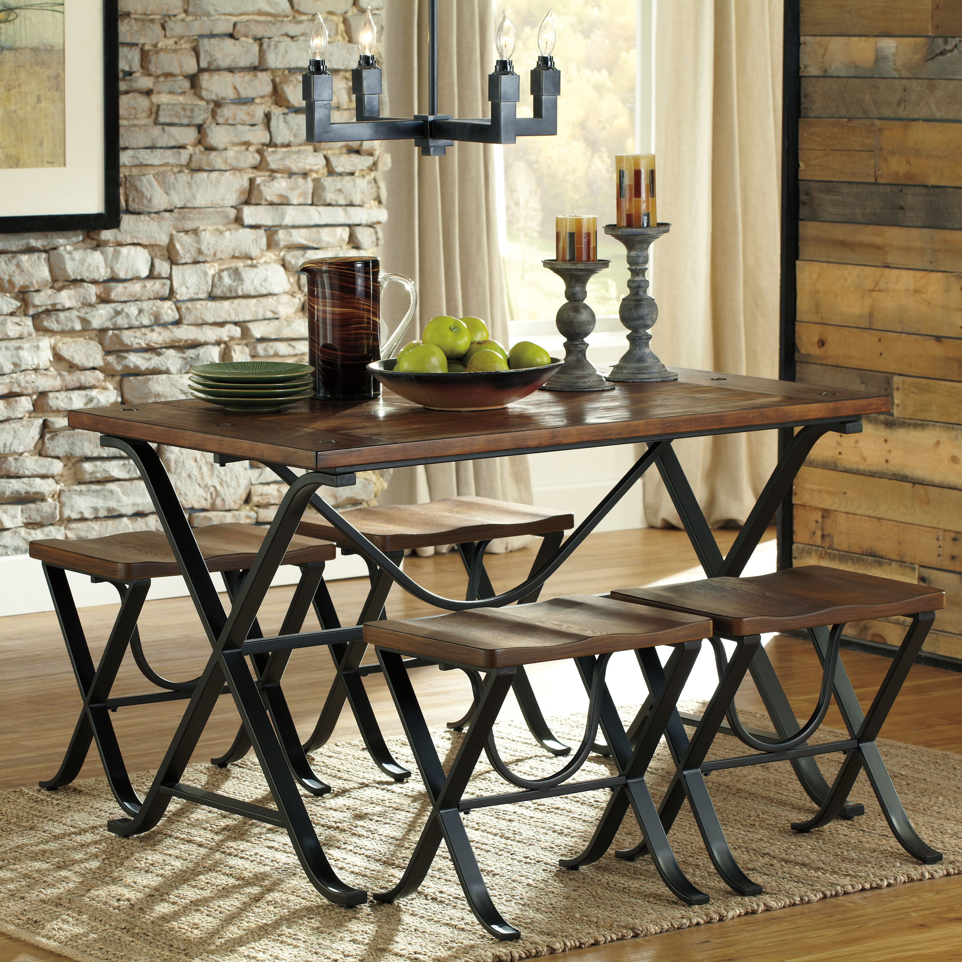 Signature Design by Ashley Freimore 5 Piece Rectangular Dining Table ...
