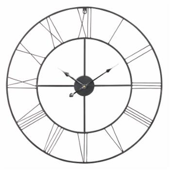 Aspire Home Accents Alpin 24 in. Round Metal Wall Clock