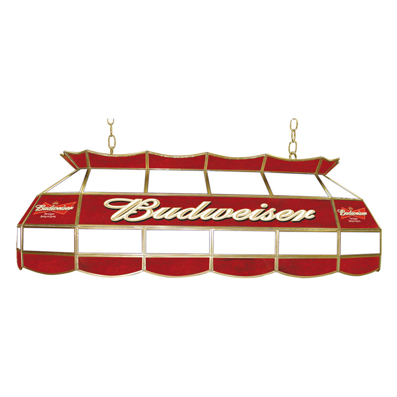 Trademark Budweiser Stained Glass 40 Inch Pool Table Light