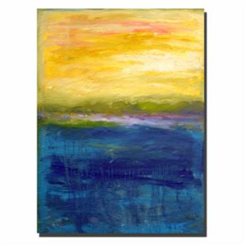 Gold and Pink Abstract Wall Art by Michelle Calkins
