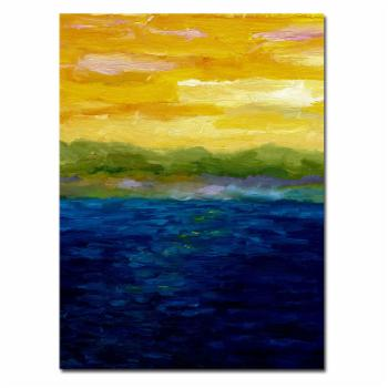 Gold and Pink Sunset Wall Art by Michelle Calkins