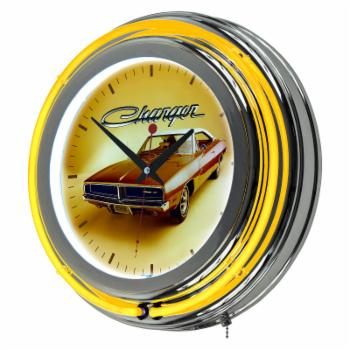 Dodge 69 Charger Double Ring Neon Wall Clock
