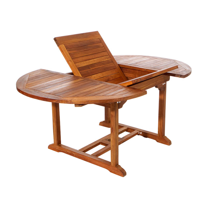 All Things Cedar Teak Oval Extension Patio Dining Table Hayneedle - Teak oval extension dining table