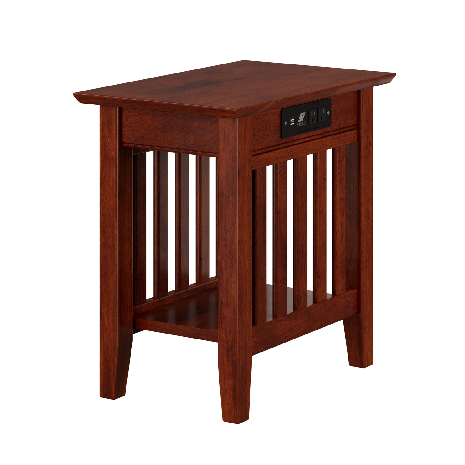 Exceptionnel Atlantic Furniture Charlotte Chair Side Table With Charging Station |  Hayneedle