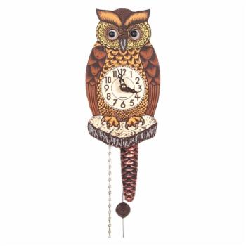 Black Forest Owl 8-Inch Wall Clock