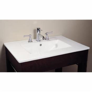 Avanity 37W x 22D in. Vitreous China Vanity Top with Integrated Sink
