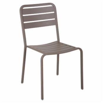 BFM Seating Vista Aluminum Stackable Patio Side Chair