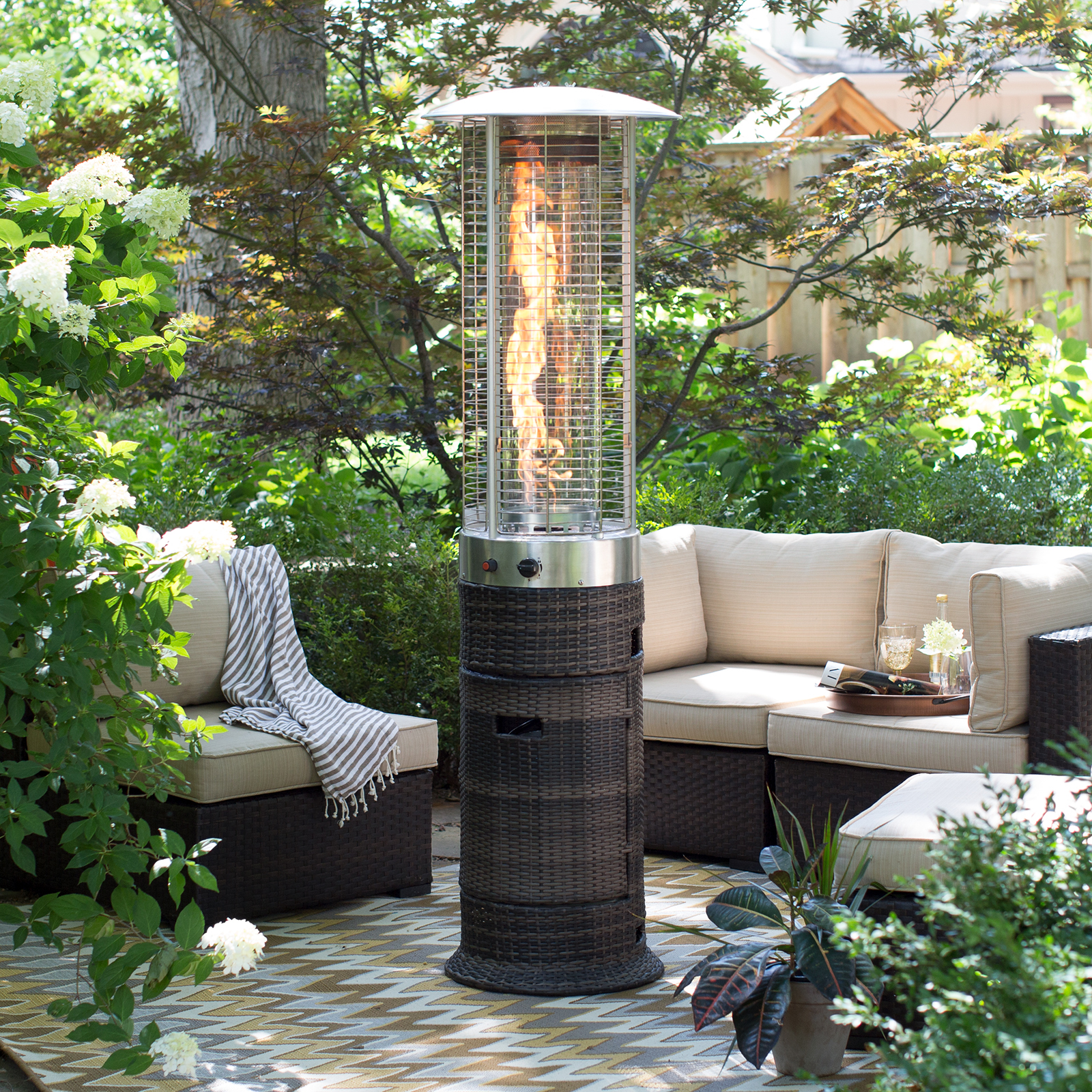 Red Ember Wicker Patio Heater
