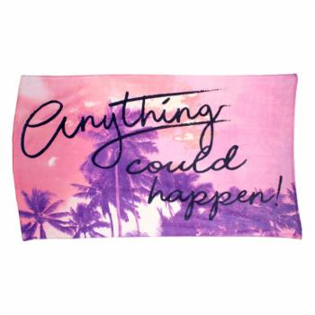 Sand and Surf Anything Could Happen Beach Towel