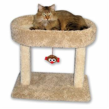 Beatrise Kitty 21 in. Oval Cozy Perch Cat Tree