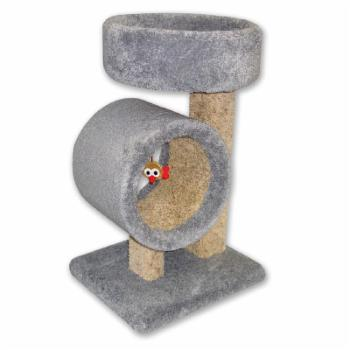 Beatrise Kitty Tunnel Cat Tree with Round Perch