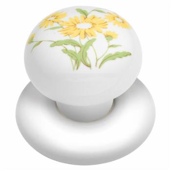 Hickory Hardware English Cozy Yellow Flower Cabinet Knob