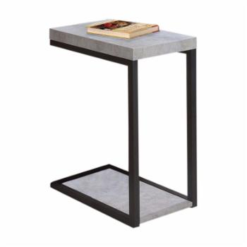 Benzara Industrial Faux Cement Snack Table