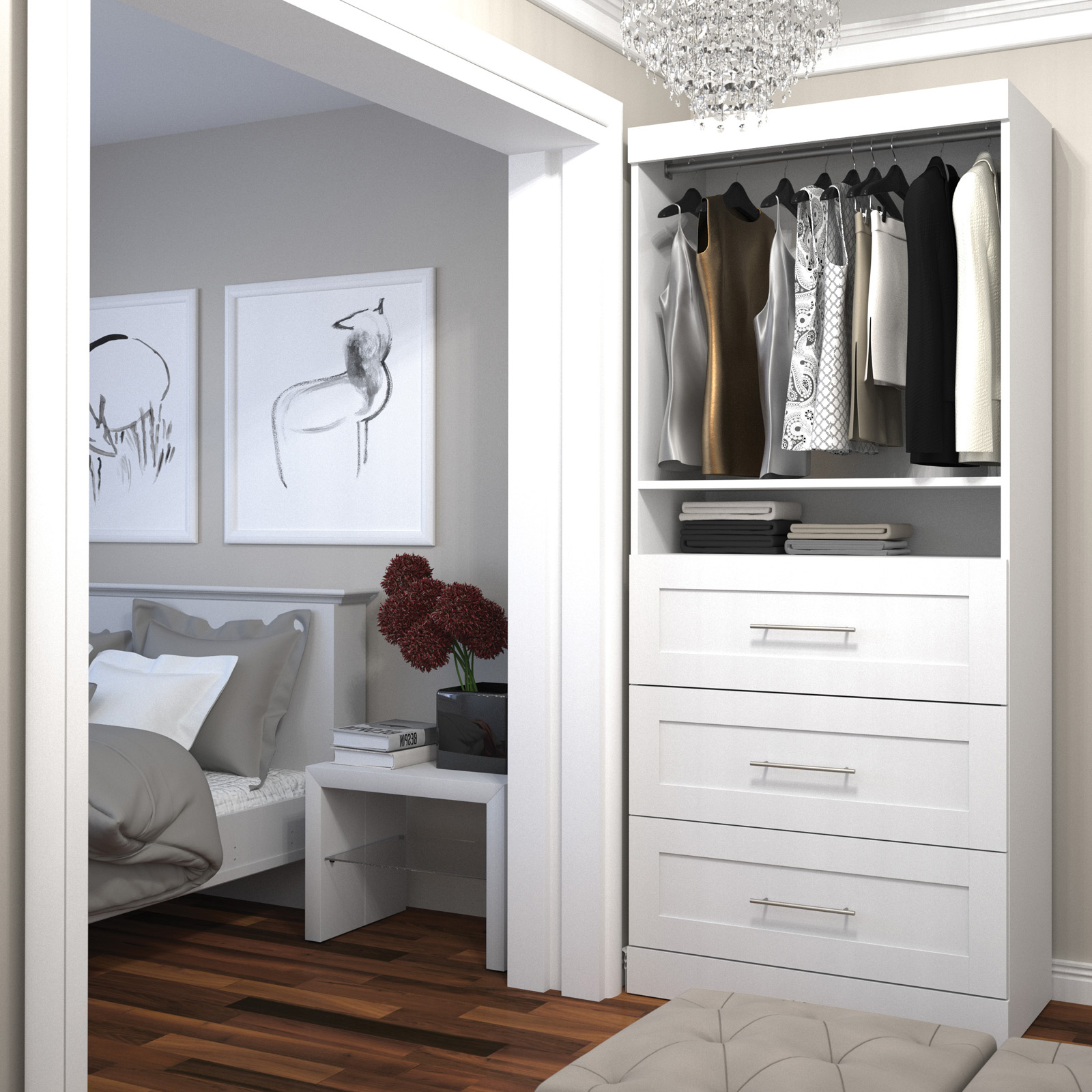 drawer ideas appealing house organizer your steel with design white for drawers offer interior shelves and furniture also small pole closet silver wooden organization wonderful