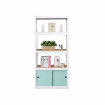 Best Home Fashion Kepsuul 4 Shelf + 1 Door Customizable Modular Shelving and Storage Unit