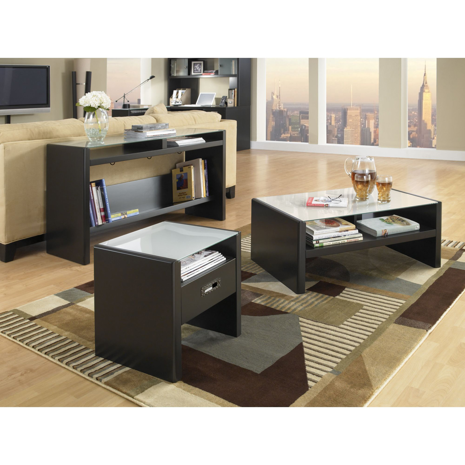 Kathy Ireland Office By Bush Furniture New York Skyline Coffee Table Set With Options Hayneedle