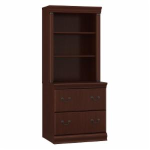 Bush Birmingham Lateral File With Hutch Harvest Cherry