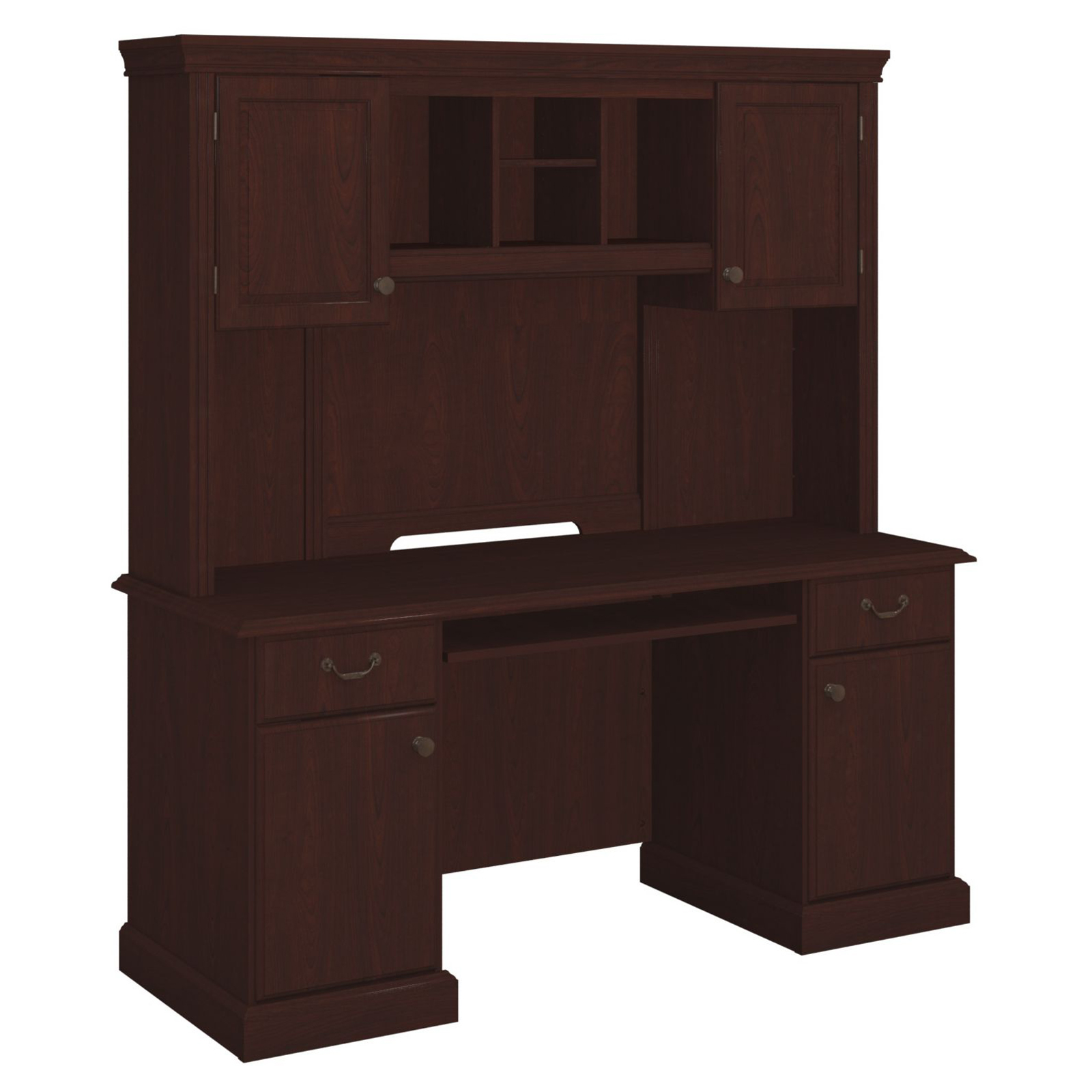 Bestar Solay L Shaped Desk With Lateral File Cabinet And Bookcase Hayneedle