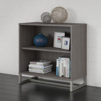 Office by kathy ireland Method Standard Bookcase Cabinet with Optional Hutch