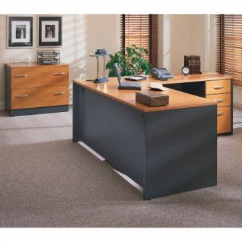 Bush Series C L-Shaped Desk with Mobile Files