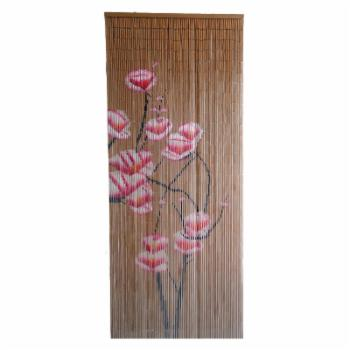 Bamboo54 Pink Flowers Bamboo Outdoor Curtain