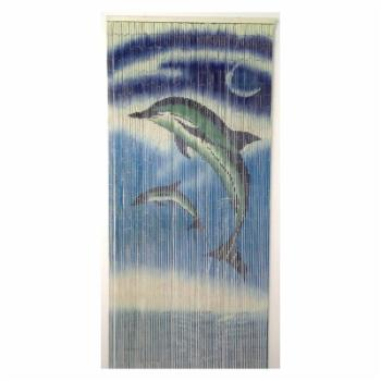 Bamboo54 Pair of Dolphins Bamboo Outdoor Curtain