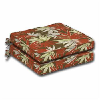 Comfort Classics Outdoor Leaf Print Dining Seat Cushion - Set of 2