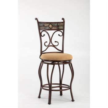 Boraam Beau 24 in. Swivel Counter Stool With Back