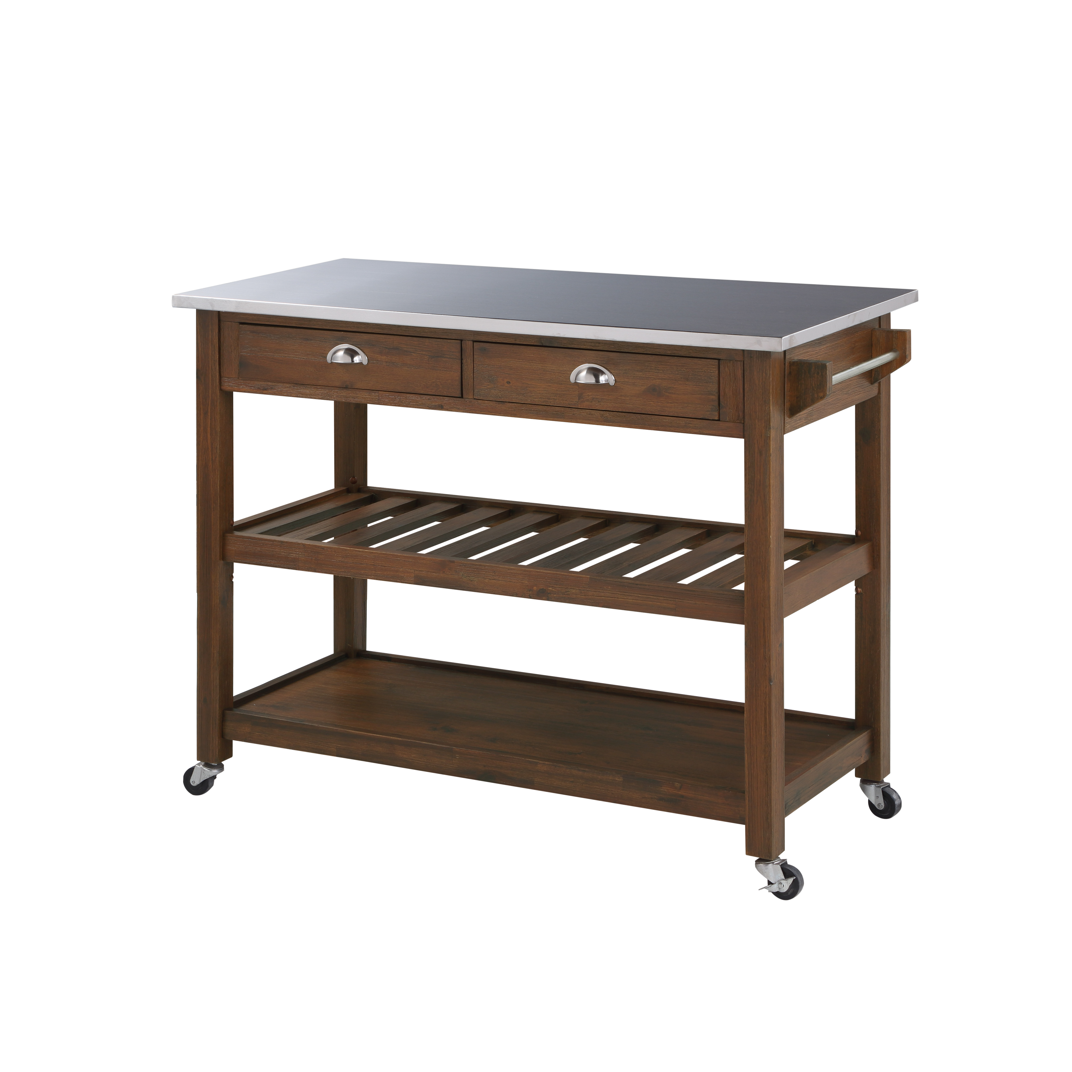 Sonoma Wire-Brush Rustic-Finish Kitchen Cart