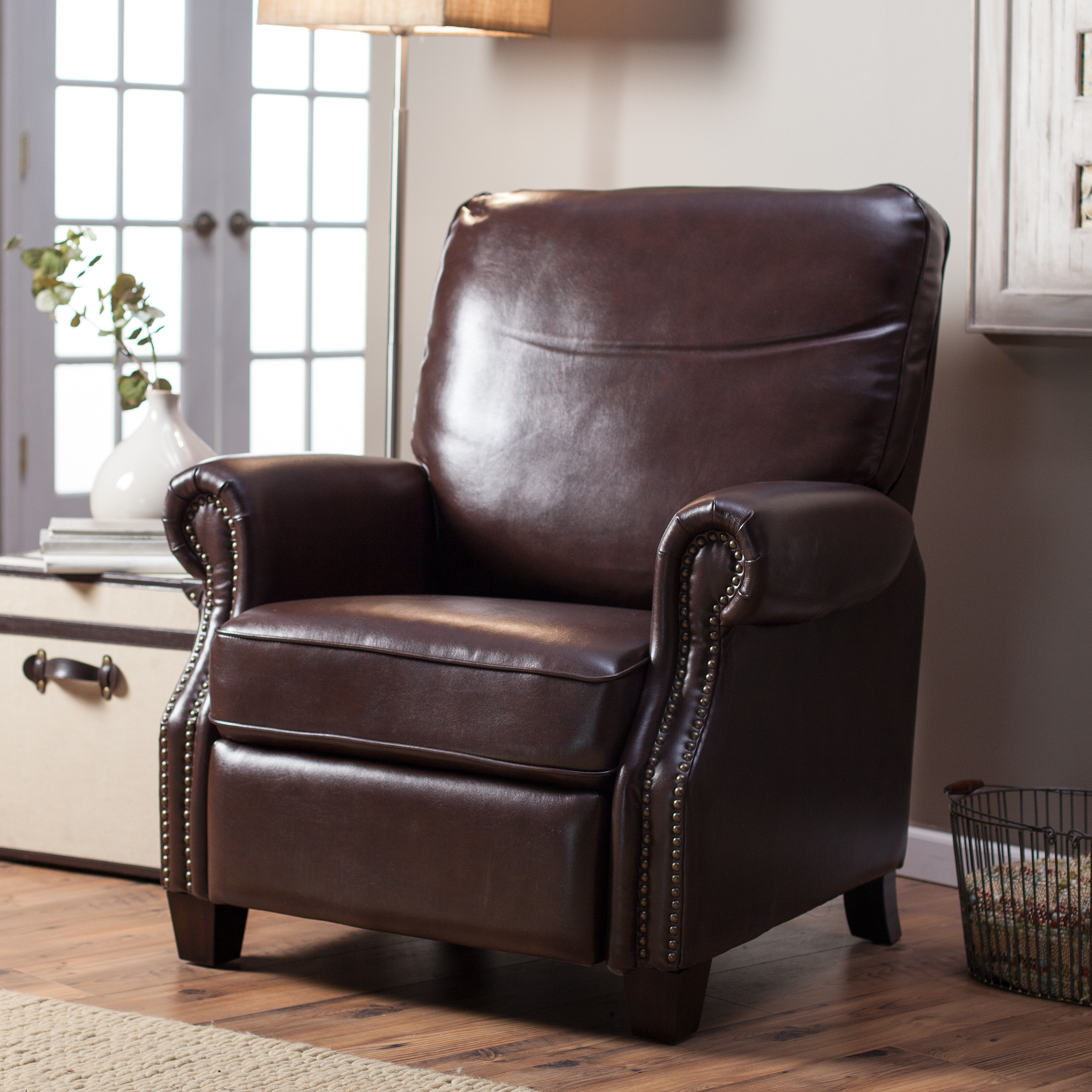 & Barcalounger Ridley II Leather Recliner with Nailheads | Hayneedle islam-shia.org