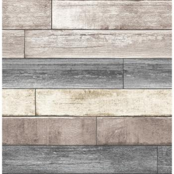 NuWallpaper Reclaimed Wood Plank Peel and Stick Wallpaper