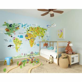 ohpopsi The Whole Wide World Wall Mural
