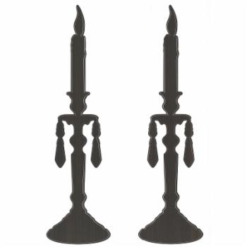 Fun4Walls Silhouette Candlesticks Wall Stickers - Set of 2