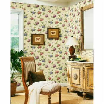 Brewster Charlotte Floral Trail Wallpaper