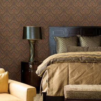 Beacon House Cypress Paisley Damask Wallpaper
