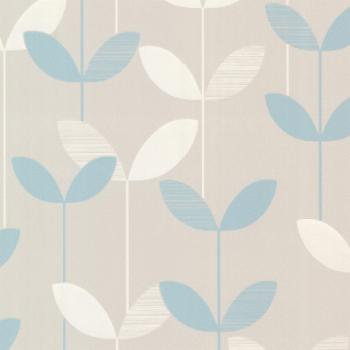 Decorline Ernst Linear Leaf Wallpaper