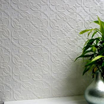 Brewster Maxwell Paintable Textured Vinyl Wallpaper