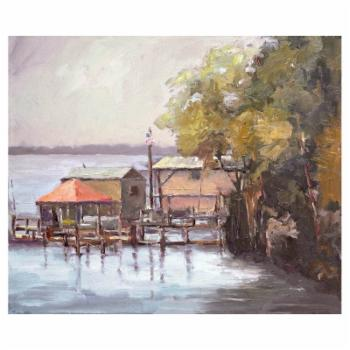 John Beard Collection Julington Creek Print on Giclee Canvas