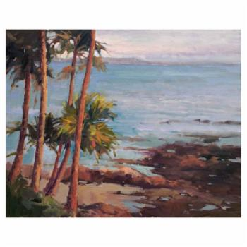 John Beard Collection Windy Palms Print on Giclee Canvas