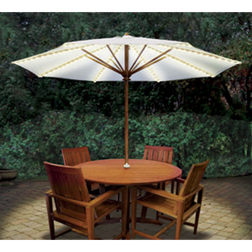 Blue Star Group BRELLA LIGHTS   Patio Umbrella Lighting System With Power  Pod