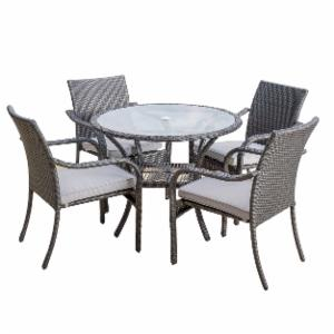 wicker outdoor dining set. Lakeside 5 Piece Wicker Patio Dining Set Outdoor R