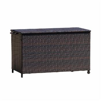 HN Outdoor Warner 54 in. 150-Gallon Wicker Deck Box