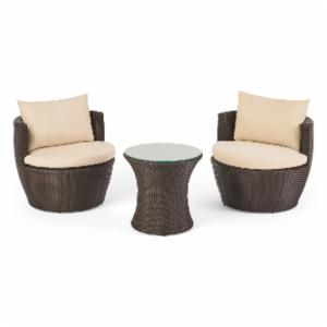 Angelina Wicker 3 Piece Patio Conversation Set