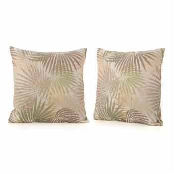 Coronado Outdoor Square Tropical Red Water Resistant Pillow (Set of 2)