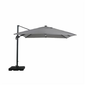 Best Selling Home Delray 9.8 ft. Gray Cantilever Patio Umbrella