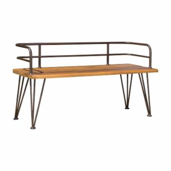 Best Selling Home Lastoro Iron and Wood Outdoor Bench