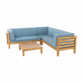 Best Selling Home Oana Wood 4 Piece Patio Conversation Set