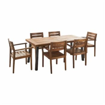 Home Avon Acacia 7 Piece Patio Dining Set