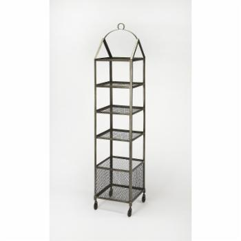 Butler Industrial Chic Trammel Etagere Bookcase - Gray
