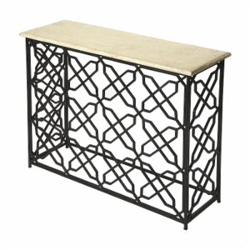 Butler Specialty Armando Fossil Stone and Metal Console Table